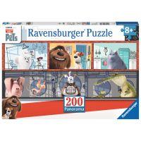 Ravensburger Tajný život mazlíčků Puzzle Panorama 200 dílků