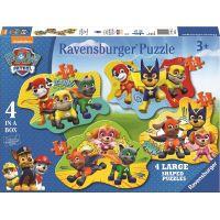 Ravensburger Tlapková Patrola 4 v 1 tvary puzzle