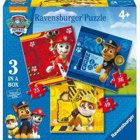 Ravensburger Tlapková Patrola Rubble, Marshall & Chase puzzle 25,36,49 dílků