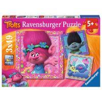 Ravensburger Trolové Puzzle Veselé přátelé 3 x 49 dílků