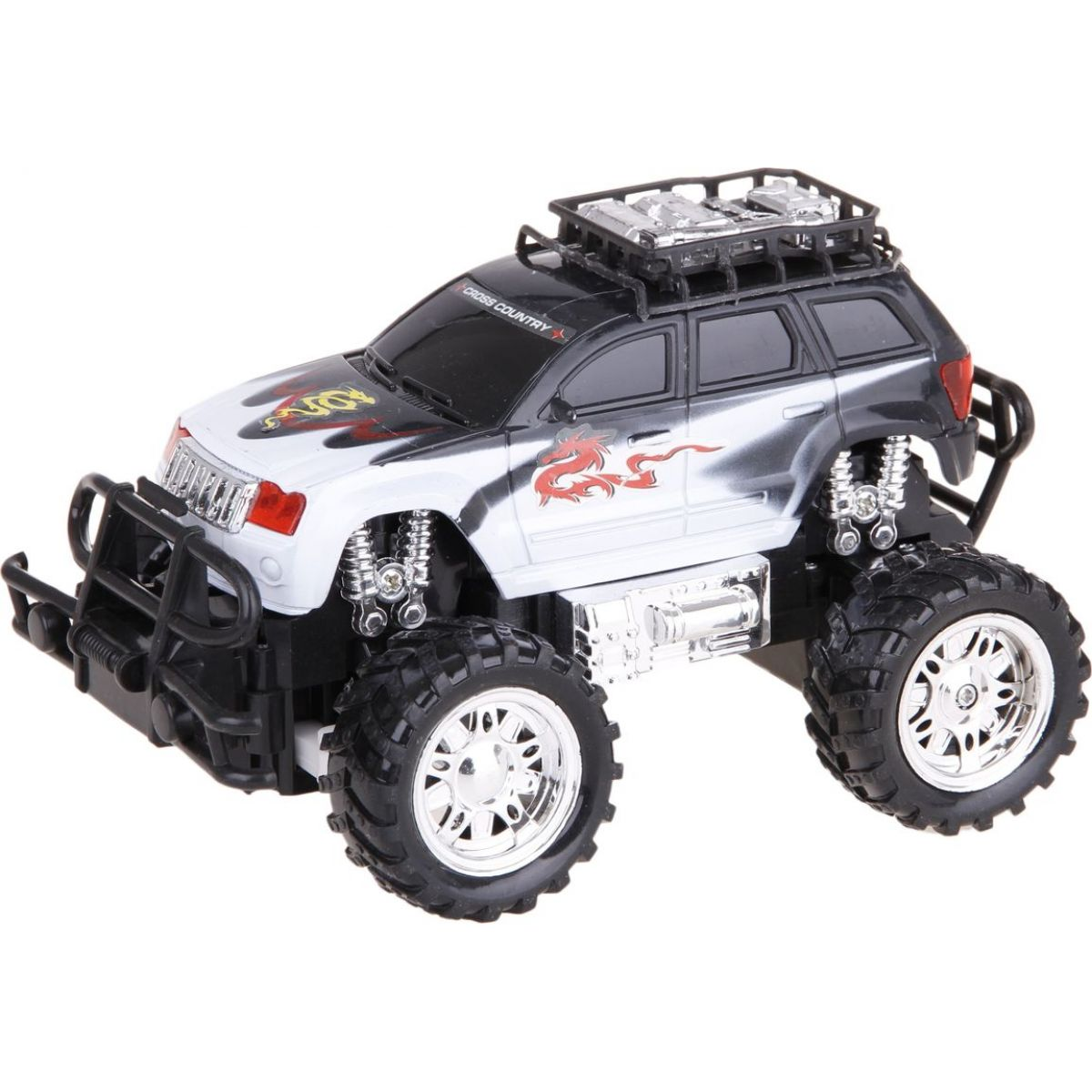RC Auto Monster Truck - Černobílá