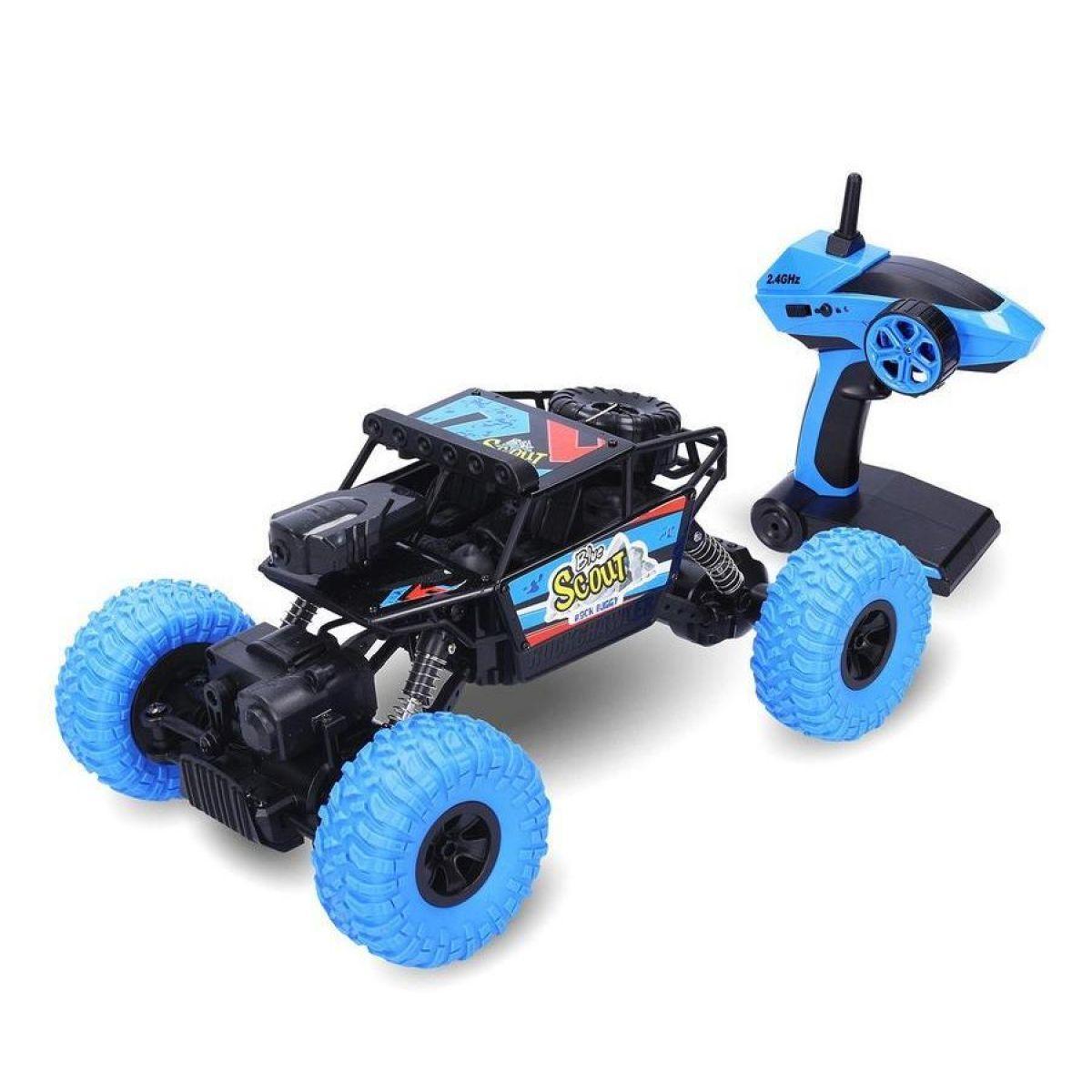 RC Auto Rock Buggy Blue Scout s WIFI kamerou