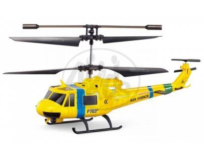 RC Vrtulník -Helikoptéra Fleg RESCUE Huey GYRO s figurkami - Poškozený obal