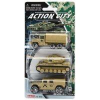 Realtoy Vojenská technika 3ks Hnědý náklaďák