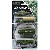 Realtoy Vojenská technika 3ks Zelený náklaďák