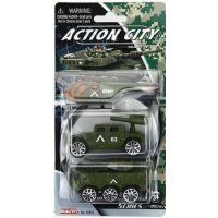 Realtoy Vojenská technika 3ks Zelený vrtulník