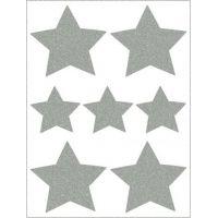 Reflexní nažehlovací motivy hvězdy