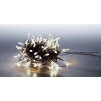 Marimex Řetěz světelný 100 LED 5 m studená bílá transparent kabel 8 funkcí
