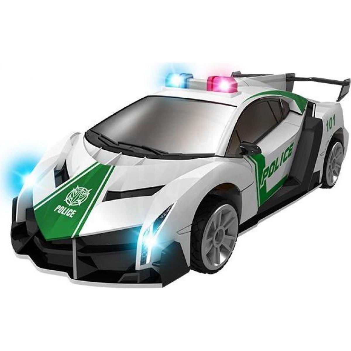 Robocarz 2v1 auto sportovní policie s přeměnoutransrobot 2 druhy 1:32