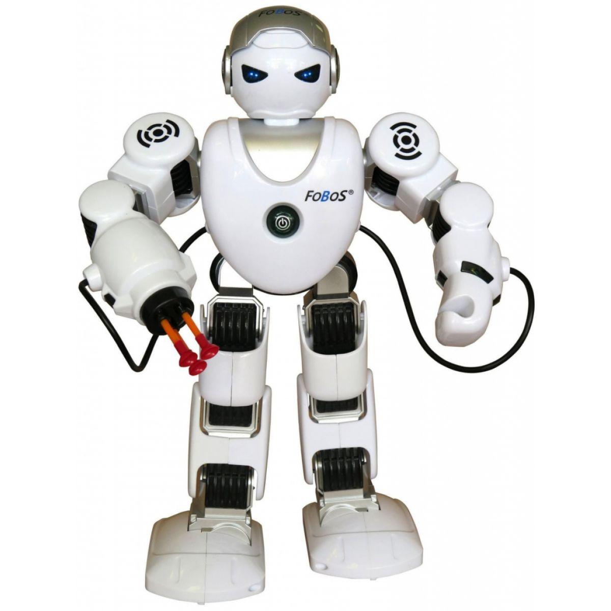 Teddies Robot RC FOBOS interaktivní chodící plast 40cm na baterie s USB