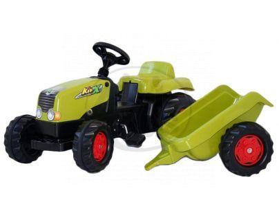 Rolly Toys 012978 - Šlapací traktor Rolly Kid s vlečkou sv. zelený