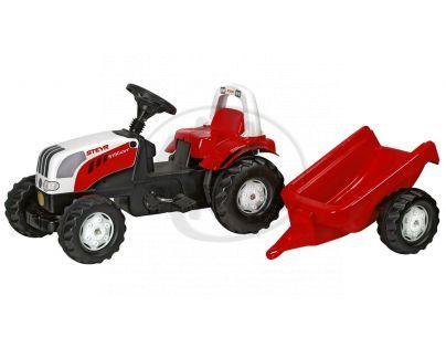 Rolly Toys 012510 - Šlapací traktor Rolly Kid Steyer s vlečkou-červený