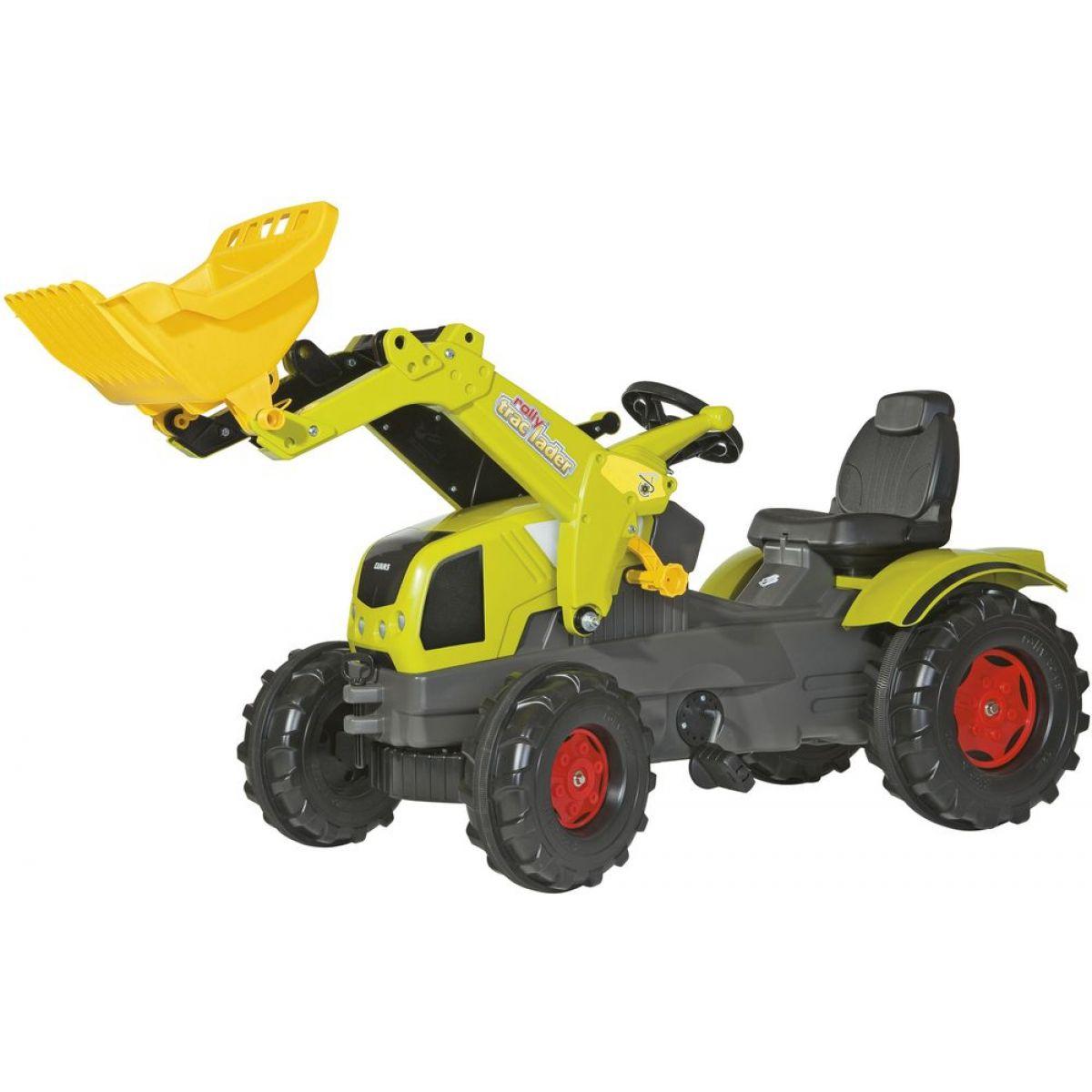 Rolly Toys Šlapací traktor Claas Axos 340 s nakladačem Rolly Toys