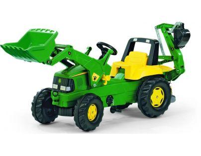 Rolly Toys Šlapací traktor Rolly Junior John Deere s bagrem a nakladačem