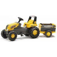 Rolly Toys Šlapací traktor Rolly Junior s Farm vlečkou žlutý