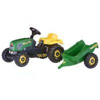 Rolly Toys 012442 - Šlapací traktor Rolly Kid s vlečkou - zelený