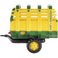 Rolly Toys Vlečka na seno za traktor jednoosá Hay Wagon Zelenožlutá