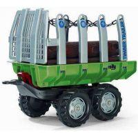 Rolly Toys vlečka s kládami zelená