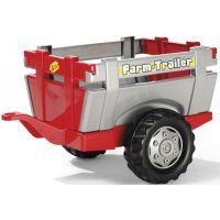 Rolly Toys Vlečka za traktor jednoosá Farm Trailer Stříbročervená