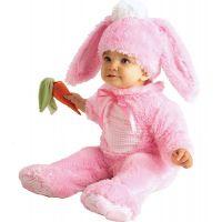 Rubie's Baby kostým - ružový zajačik (6-12m)