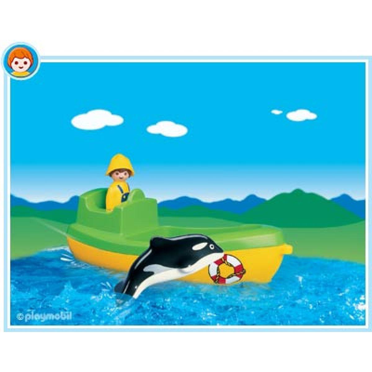 Playmobil 6739 - Rybářská loď s velrybou