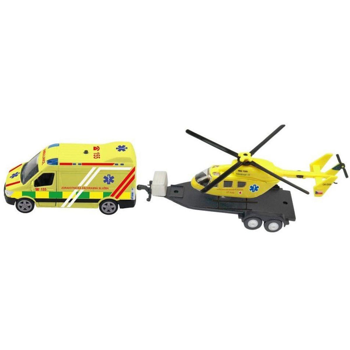 Sada ambulancie vrtuľník so svetlom a zvukom