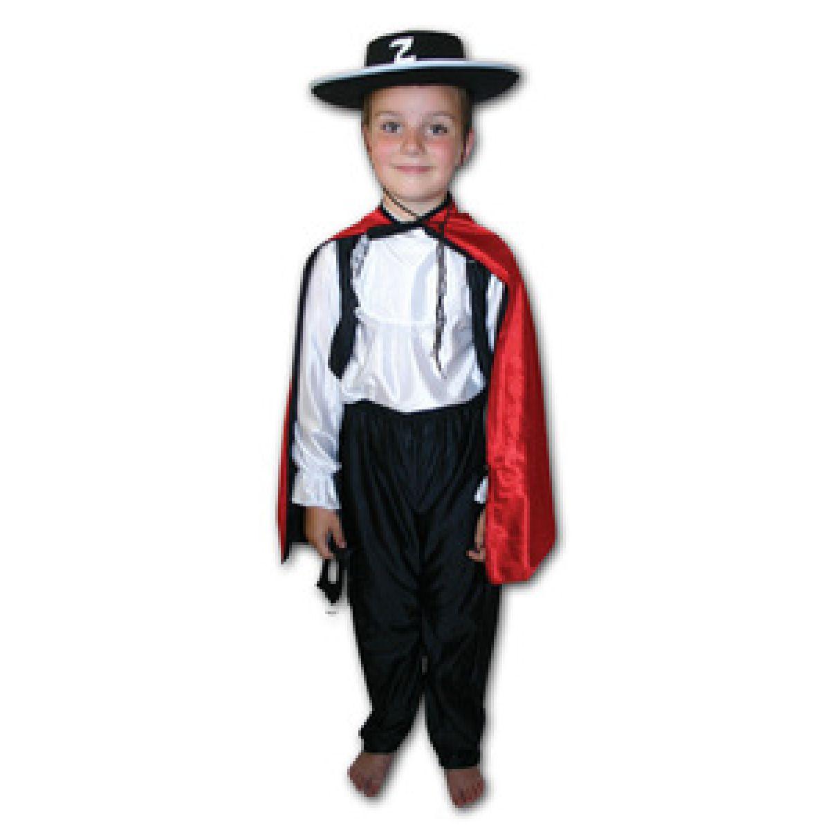 Rappa Kostým Zorro vel. S,M - Vel. S