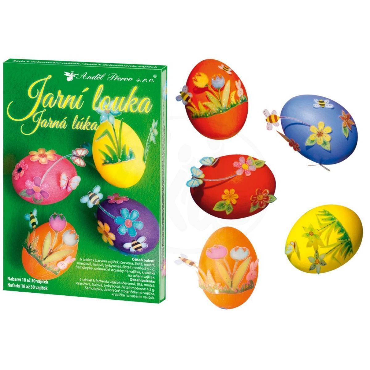 Anděl Sada k dekorování vajíček Jarní louka