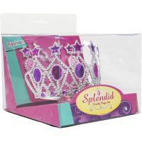 Sada krásy s plastovou korunkou a náhrdelníkem s naušnicemi karneval 3