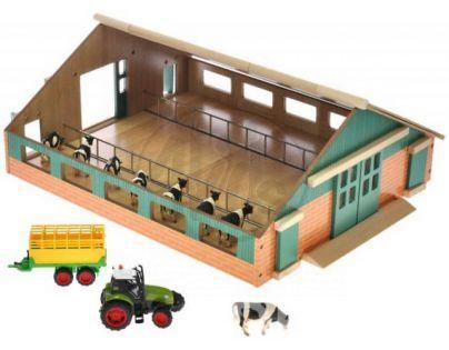 Sada malý farmář Dřevěná farma 1:50 a traktor