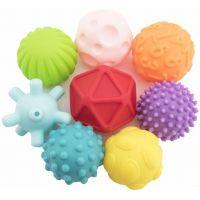 Sada míčků 8 ks s texturou gumové 6-7 cm