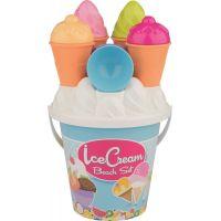 Androni Sada na písek zmrzlina a cup cake modrý kyblík
