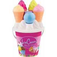 Androni Sada na písek zmrzlina a cup cake růžový kyblík