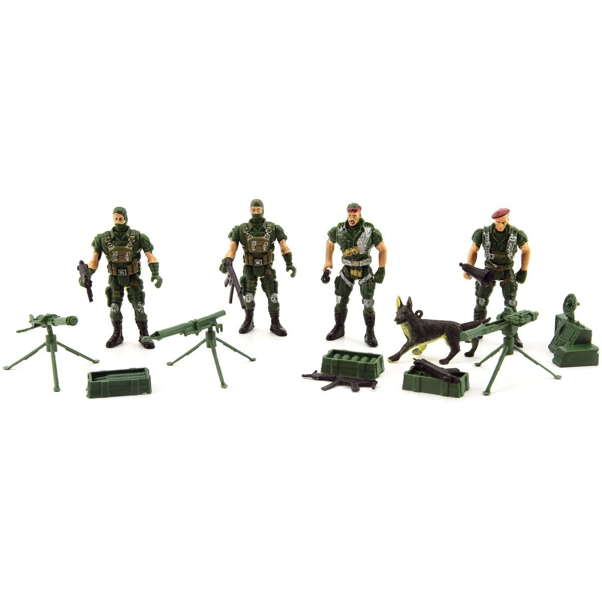 Sada vojáci 4 ks s doplňky plast CZ design