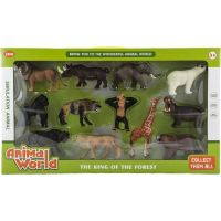 Sada zvířátek safari ZOO 12 ks