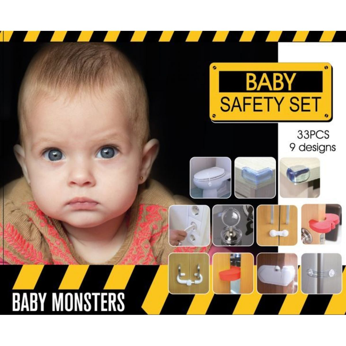 Baby Monsters Safety Set bezpečnostní sada 33 ks