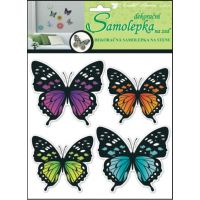 Anděl Samolepky na zeď 3D neonoví motýli 20 x 20 x 1cm  4ks