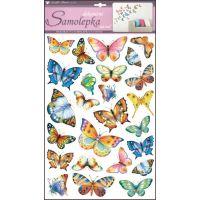 Anděl Samolepky na zeď barevní motýli 48 x 29 cm