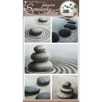 Samolepky na zeď kameny v písku 50x32cm
