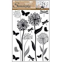 Anděl Samolepky na zeď Květiny s glitry 41 x 29 cm