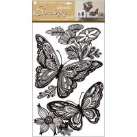 Anděl Samolepky na zeď Mandala motýli s glitry 60 x 32 cm