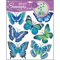 Anděl Samolepky na zeď motýli modří 30,5 x 30,5 cm