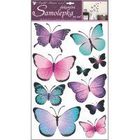 Anděl Samolepky na zeď Motýli modrofialoví 50 x 32 cm