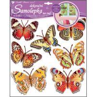 Anděl Samolepky na zeď motýli skuteční 30,5 x 30,5 cm