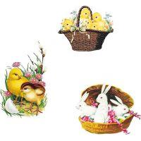 Anděl  Samolepky velikonoční gelové Vintage 19 x 9 cm 2