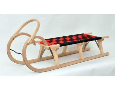 Praděd Sáně dřevěné 125 cm lakované
