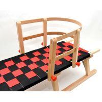 Praděd Sáně dřevěné 125 cm lakované 3