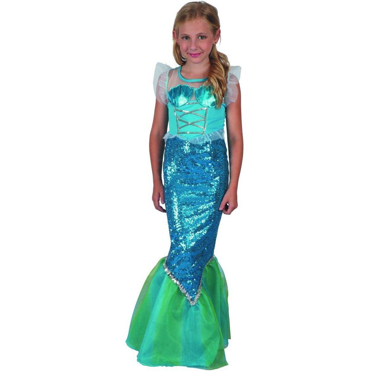 Made Šaty na karneval Mořská panna 120 - 130 cm