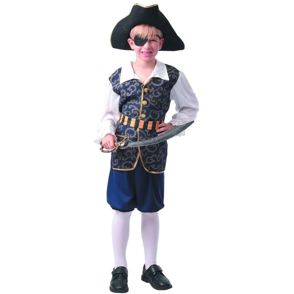 Šaty na karneval pirát 120 - 130 cm