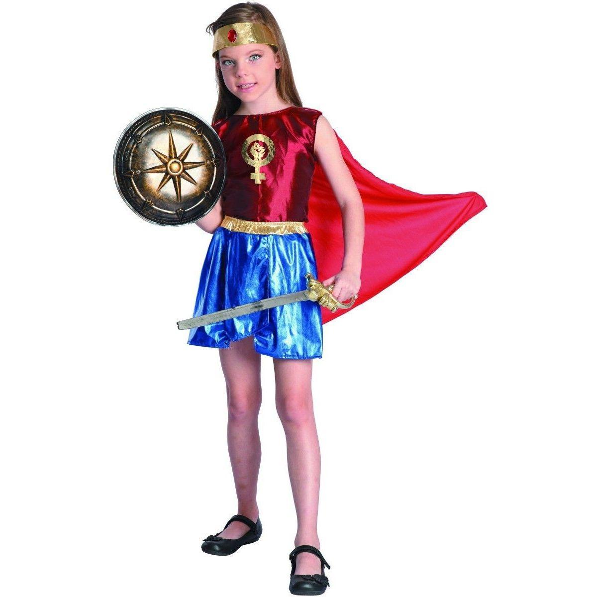 Šaty na karneval hrdinka 110 -120 cm